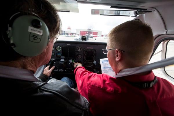Flight Instructor and Student Pilot Preflight