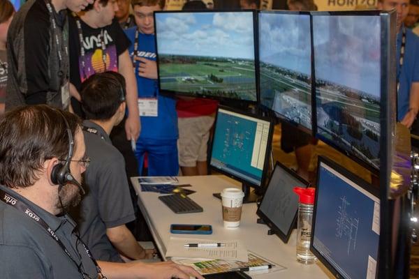 VATSIM controllers provide virtual ATC live from FlightSimExpo 2019