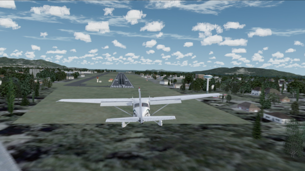 Crosswind landing scenario on home flight simulator
