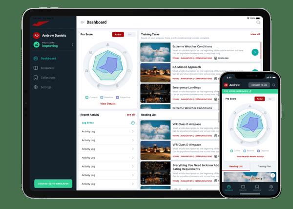 Redbird Pro Dashboard on iPad and iPhone