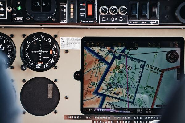 Flight Deck With iPad