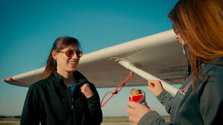 Britt Winging It at OSU Flight Team
