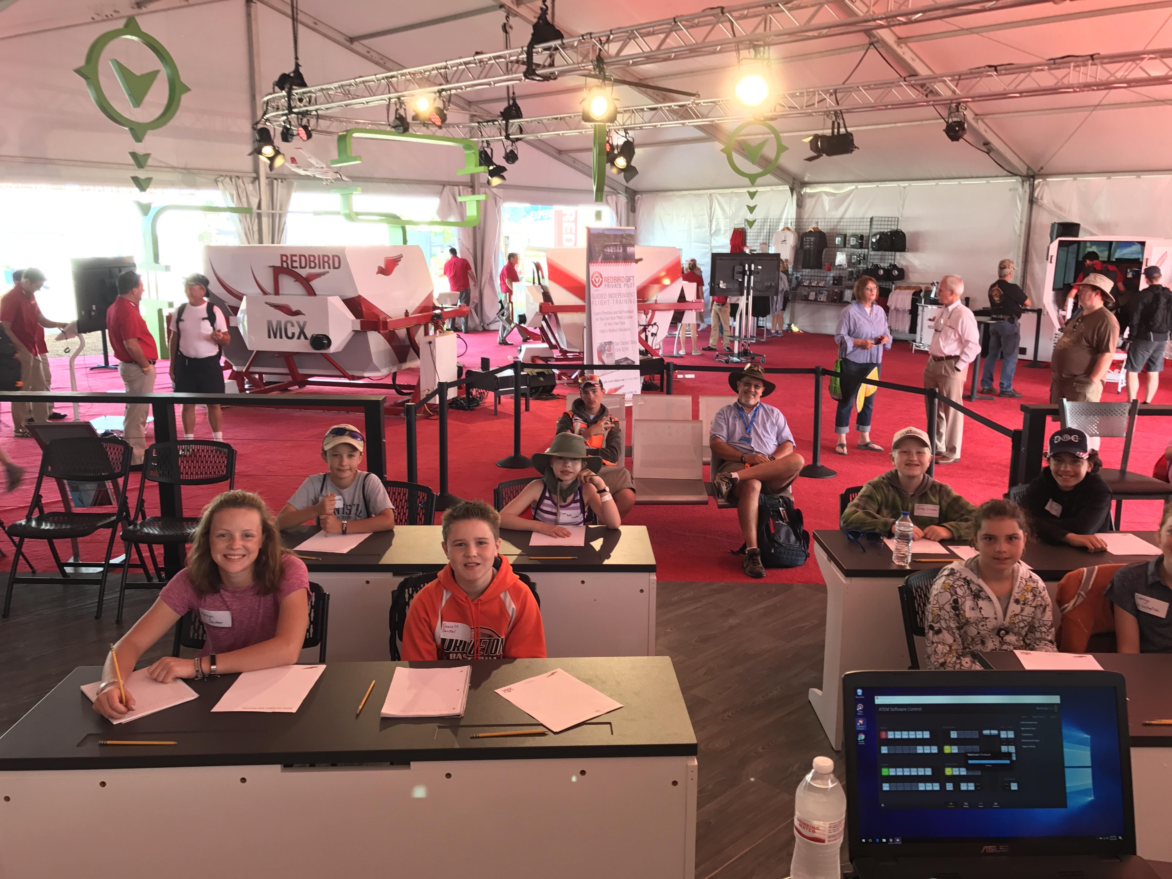 Redbird STEM Lab at AirVenture Oshkosh 2018